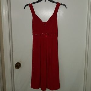 Beautiful red dress with gems